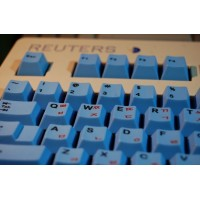 Thick blue PBT Cherry profile dyesub printed 105 pcs keycaps with Hangul letters