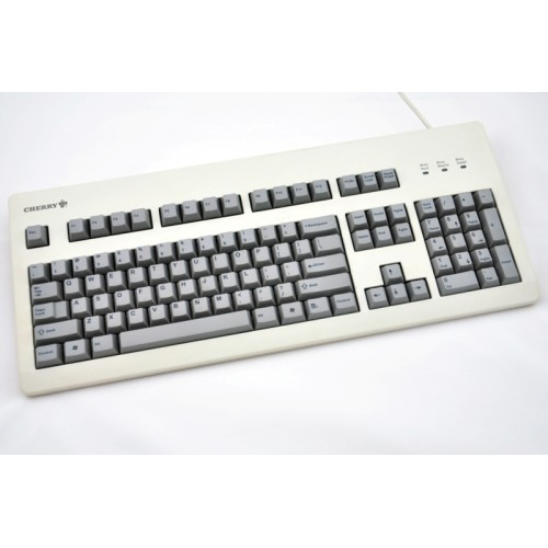 Thick Grey PBT Cherry profile blank 105 keyset