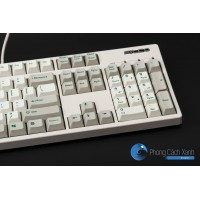 White/Beige thick PBT Cherry profile dyesub printed  keycaps 113 pcs