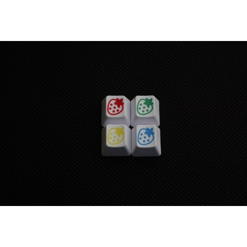 Strawberry keycaps set